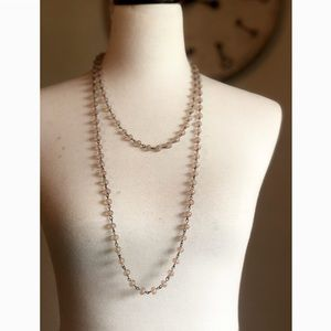 LIKE NEW- Faceted Strand Necklace